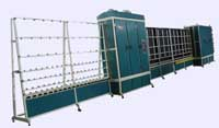Semi-automatic line of glass washing and assemblage of double-glazed, ТехноWIN